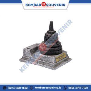 miniatur pen holder stupa candi borobudur